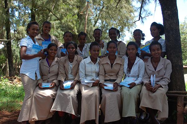 Een van de klassen die worden ondersteund door Equal Education in Uke.